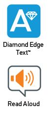 Diamond Edge Text and Read Aloud logos