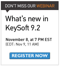 Don't miss our webinar: What's new in KeySoft 9.2 on November 8 at 7 PM E.T. (November 9, at 11 Am EDT)